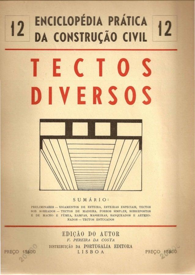 CO SIR CA  E ( T 0  'I'VE R SO S  PRELIMINARES -- VIGAMENTOS DE ESTEIRA, ESTEIRAS ESPECIAIS, TECTOS  :::OB SOBRADOS - TECT...