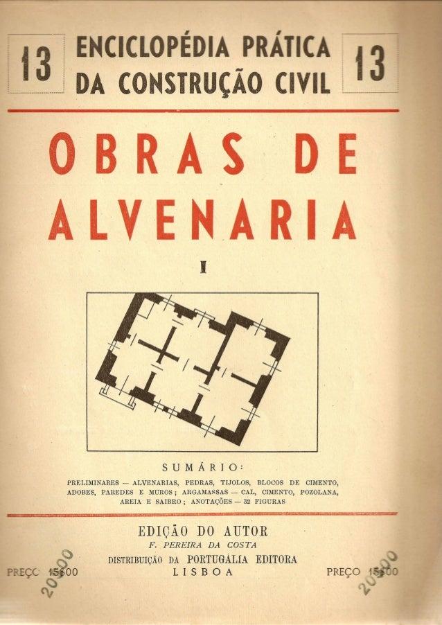 ··  ·  '----- J DA CONSTRUCAO (IV  ORRAS D  ALVENAR I  ,I  PRELIlVIINARES - ALVENARIAS, PEDRAS, TIJQLOS, BLOCOS DE CIMENTO...