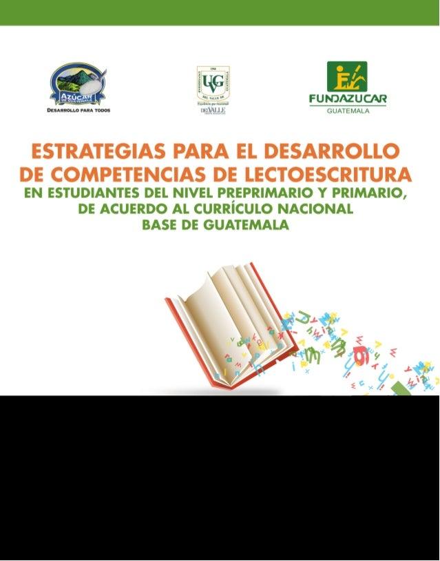 Indice ESTRATEGIAS QUE FAVOREZCAN LA ENSEÑANZA  DE LA LECTO ESCRITURA pág  5  Instruccionespág 6 Introducción...