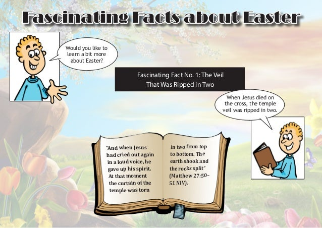 Fascinating Facts about Easter Would you like to learn a bit more about Easter?  Fascinating Fact No. 1: The Veil That Was...