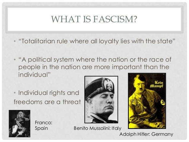 fascism in germany Fascism part i: understanding fascism and anti-semitism for the elimination of communism in germany is a purely domestic german affair so fascism.