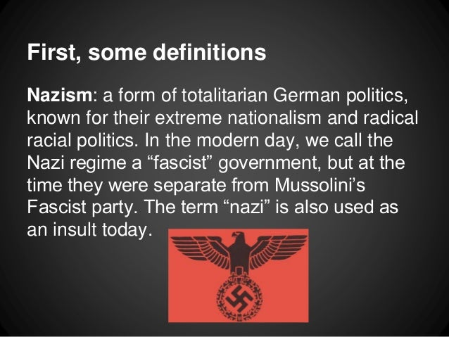 Fascism and Nazism