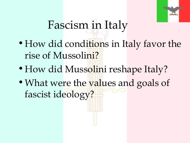an outline of the rise of fascism in italy Fascism rises in europe  fascism's rise in italy slide 7  3 text edit file of the outline of the presentation and presenter's notes.