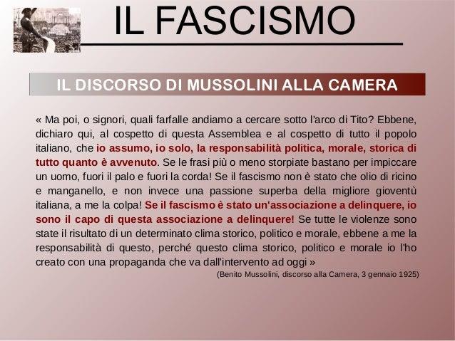 Discorso Camera Mussolini : Fascismo