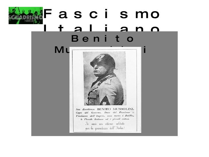 Fascismo Italiano Benito Mussolini