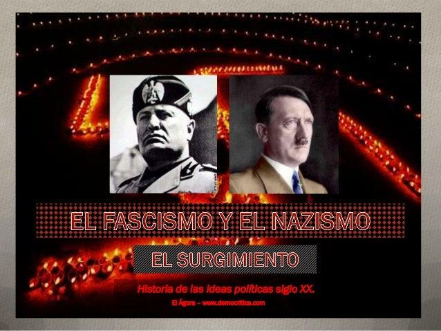 Historia de las ideas políticas siglo XX. El Ágora – www.democritica.com