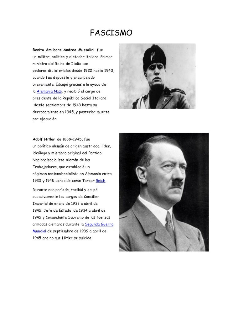FASCISMOBenito Amilcare Andrea Mussolini fueun militar, político y dictador italiano. Primerministro del Reino de Italia c...