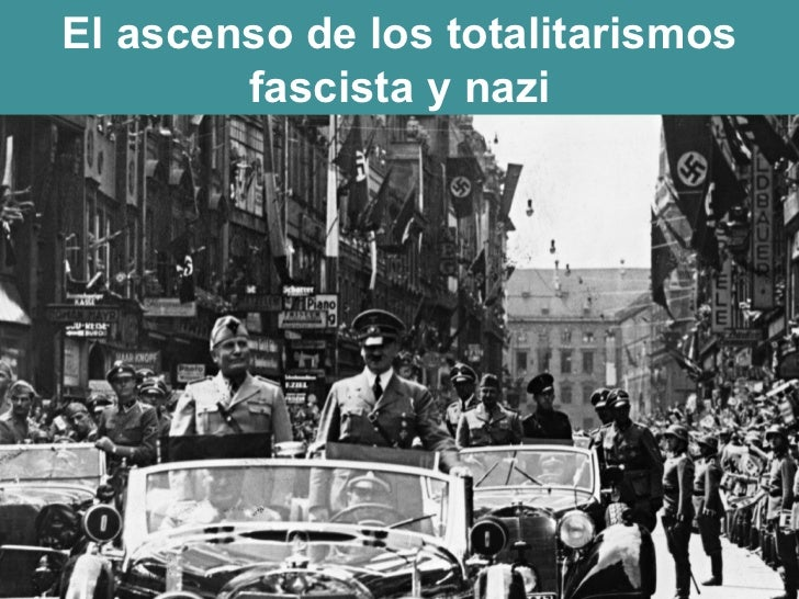 El ascenso de los totalitarismos fascista y nazi