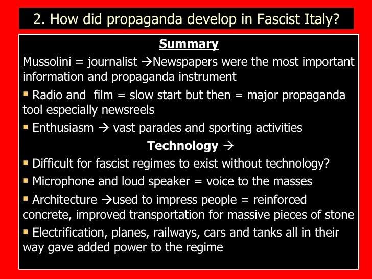 Fascist Prpaganda