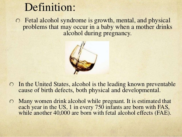 fetal alcohol syndrome research paper Fetal alcohol syndrome to the same amount and type of alcohol differed greatly(p141) the paper is a fascinating mixture alcohol, health & research.