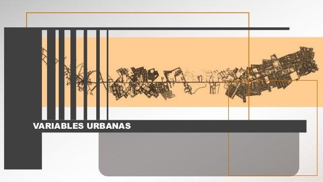 VARIABLES URBANAS