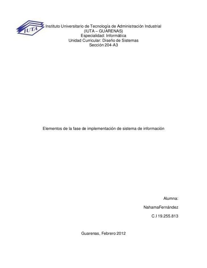 Instituto Universitario de Tecnología de Administración Industrial                        (IUTA – GUARENAS)               ...