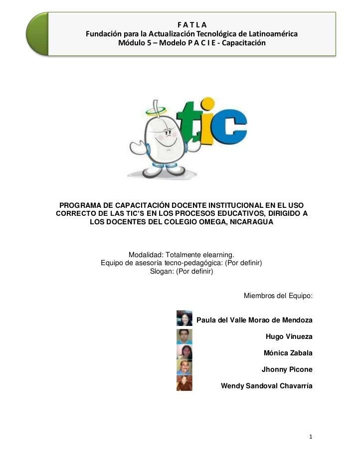 -514985-707390<br />164401557150<br />PROGRAMA DE CAPACITACIÓN DOCENTE INSTITUCIONAL EN EL USO CORRECTO DE LAS TIC'S EN LO...
