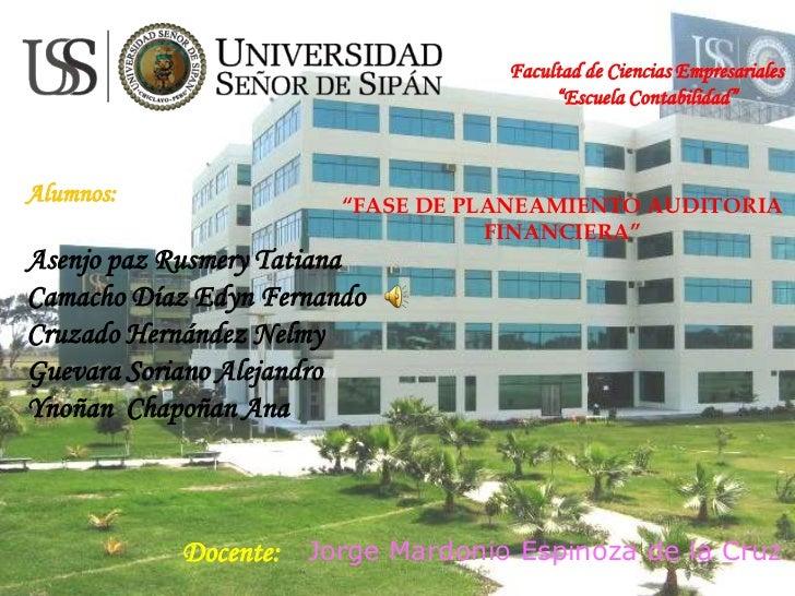 """Facultad de Ciencias Empresariales                                        """"Escuela Contabilidad""""Alumnos:                """"F..."""