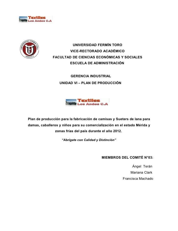 UNIVERSIDAD FERMÍN TORO                         VICE-RECTORADO ACADÉMICO              FACULTAD DE CIENCIAS ECONÓMICAS Y SO...