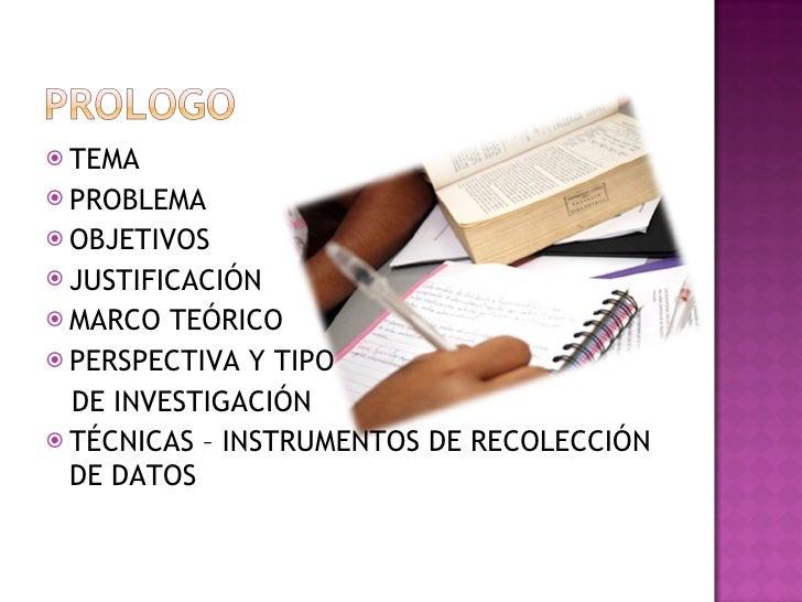 <ul><li>TEMA </li></ul><ul><li>PROBLEMA </li></ul><ul><li>OBJETIVOS </li></ul><ul><li>JUSTIFICACIÓN </li></ul><ul><li>MARC...