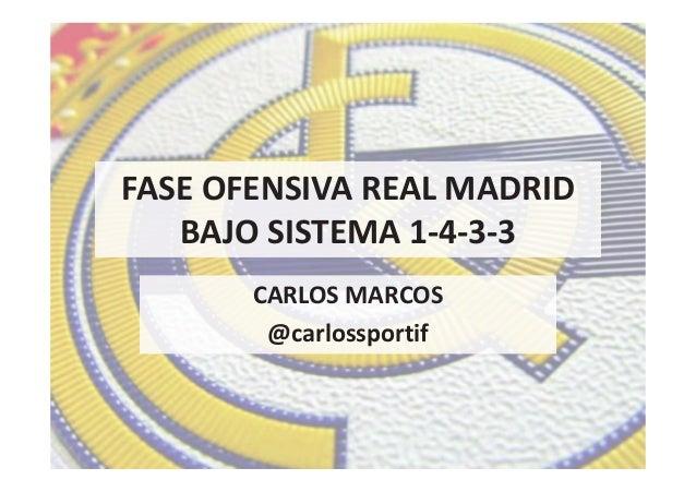 FASE OFENSIVA REAL MADRID BAJO SISTEMA 1-4-3-3 CARLOS MARCOS @carlossportif