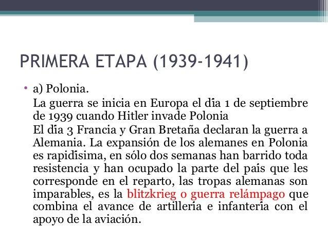 La Segunda Guerra Mundial Etapas Pdf