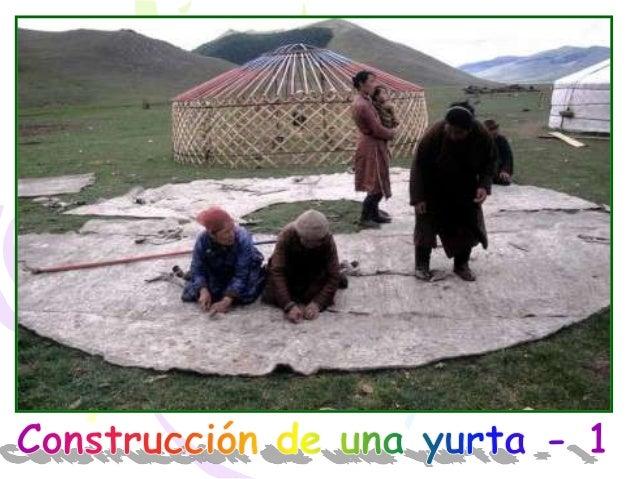 Fases construcción de una yurta