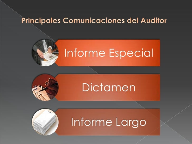 Principales Comunicaciones del Auditor<br />