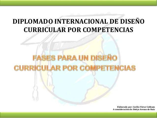 Fases Del Diseño Curricular Por Competencias