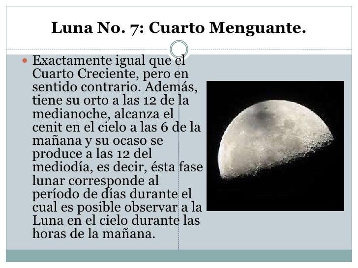 Fases de la luna for Definicion de cuarto