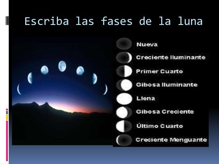Fases de la luna for Hoy es cuarto creciente