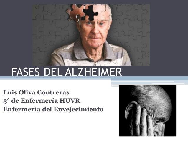 FASES DEL ALZHEIMER Luis Oliva Contreras 3° de Enfermería HUVR Enfermería del Envejecimiento