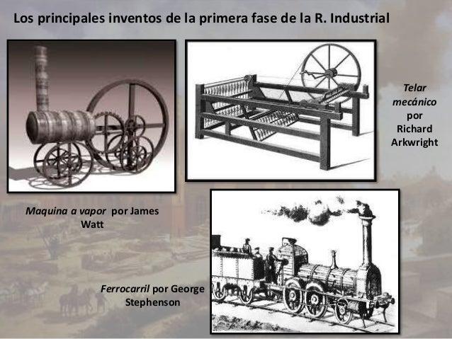 invenciones primera revolucion industrial