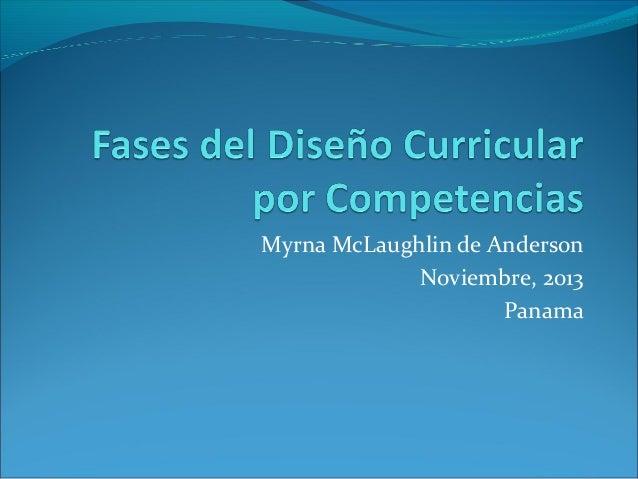 Myrna McLaughlin de Anderson Noviembre, 2013 Panama