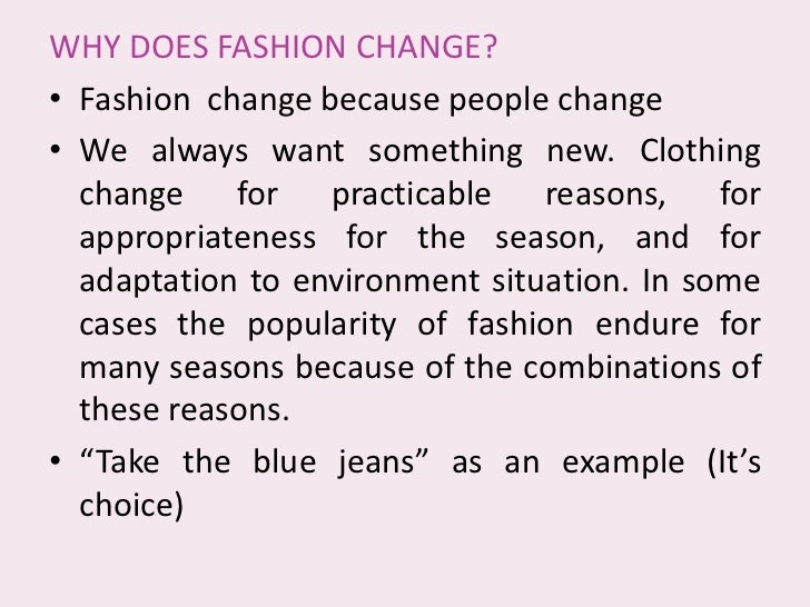 Fashion essay questions