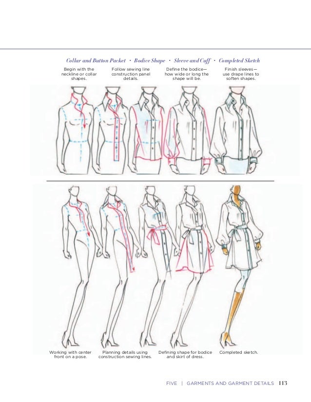 Fashion Design Back And Front Template