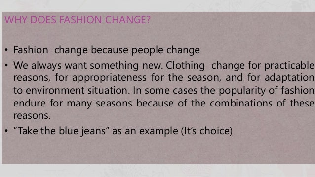 how fashion change with time