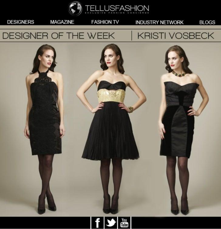 Fashion designer Kristi Vosbeck