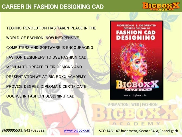 Fashion designing courses in chandigarh using cad at big Fashion designing course subjects