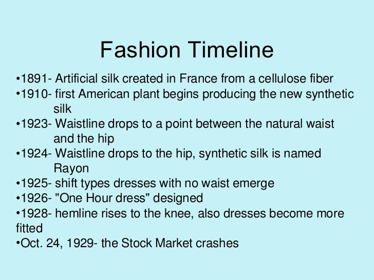 Fashion in the 1920's