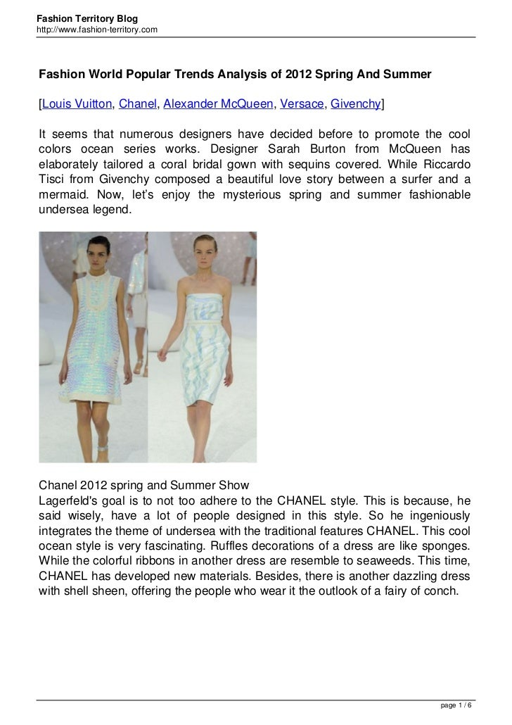 Fashion Territory Bloghttp://www.fashion-territory.comFashion World Popular Trends Analysis of 2012 Spring And Summer[Loui...