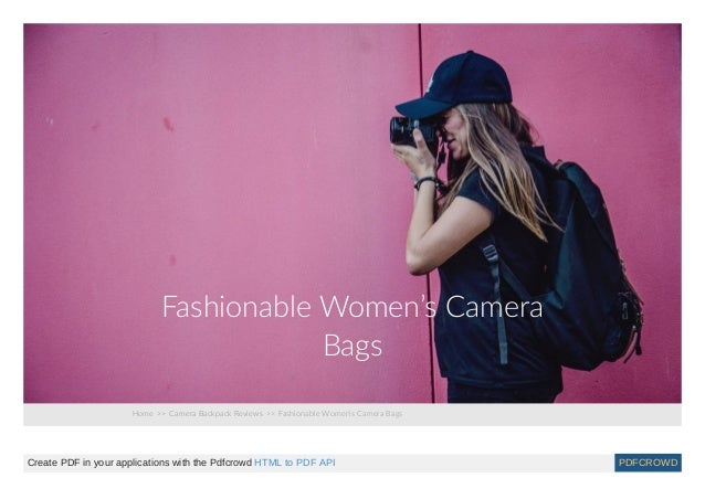 Fashionable womens camera bags d62708165d