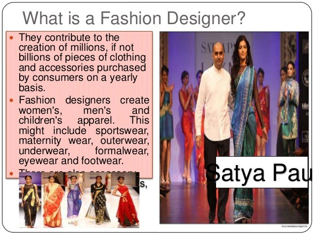 The career of a fashion designer 76
