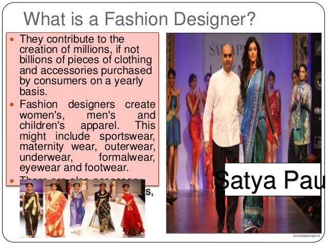 The career of a fashion designer 76