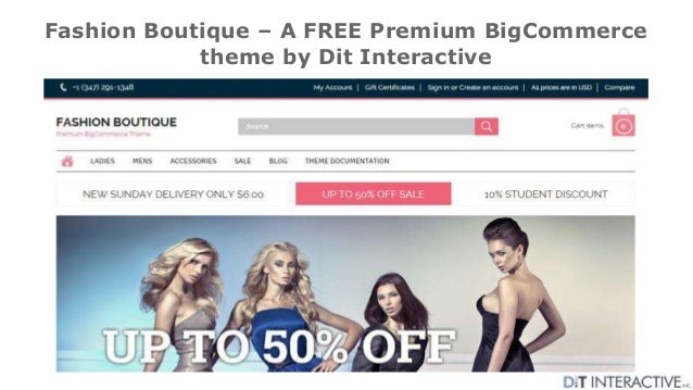 Fashion Boutique – A FREE Premium BigCommerce theme by Dit Interactive