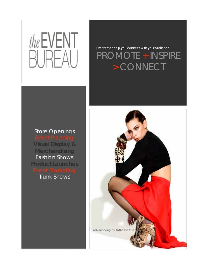 Events that help you connect with your audience.                       PROMOTE + INSPIRE                          > CONNEC...