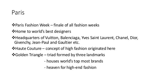 Fashion capitals of the world ppt 51