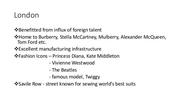 Fashion capitals of the world ppt 88