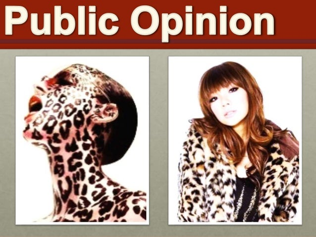 • Public Opinion is FLUID and  VOLATILE  • Hadley Cantril's Law  • Factors that shape Public Opinion  • Media  • Family an...