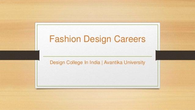 Fashion Design Careers Design College In India | Avantika University