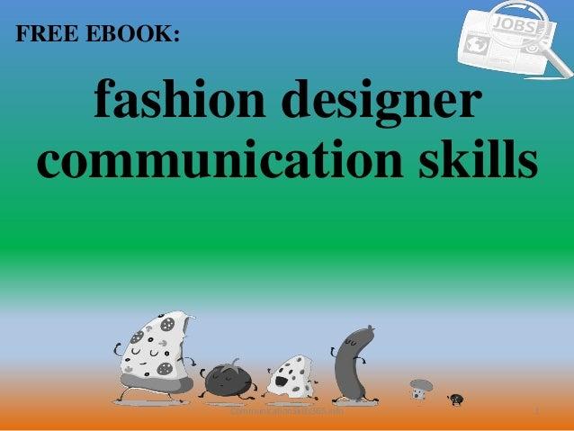 Fashion Designer Communication Skills Pdf