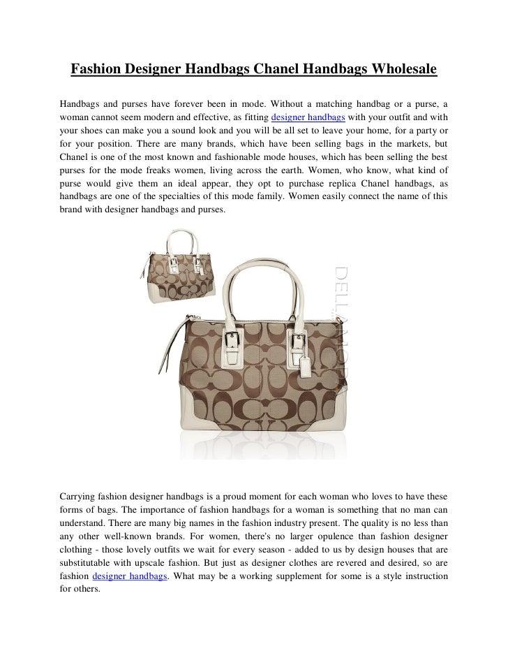 6fcba9c9fec0 Fashion Designer Handbags Chanel Handbags Wholesale Handbags and purses  have forever been in mode.