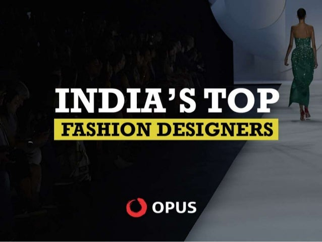 Top Fashion Designers In India