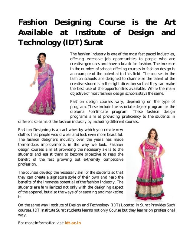 Best Diplomas in Fashion Design 2018 - Academic Courses 33